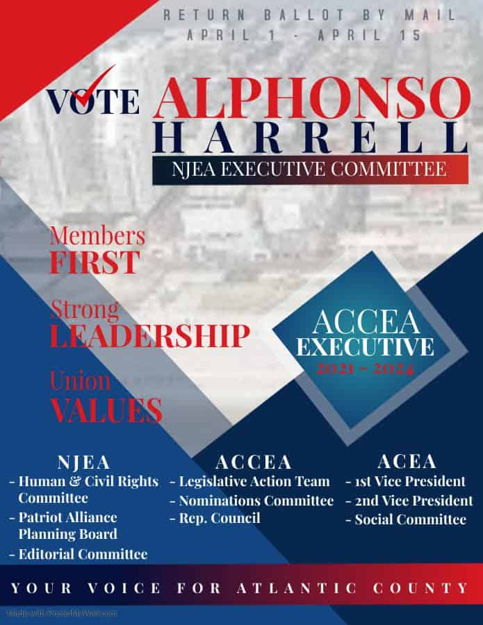 Alphonso Harrell for NJEA Executive Committee